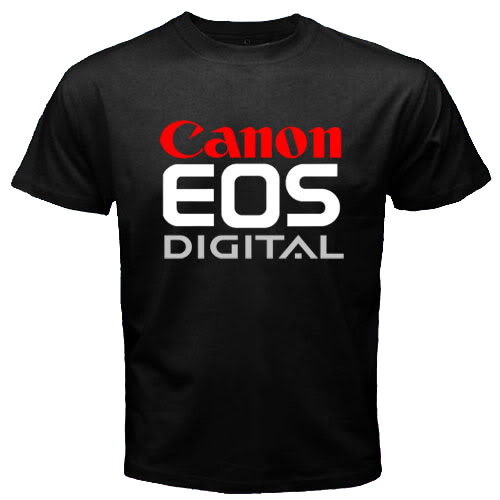 Camiseta Canon Preta 100% Algodão