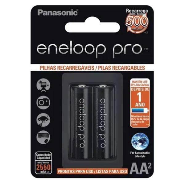 Pilhas AA Recarregáveis da Eneloop Pro 2550 mAh ESHOP10