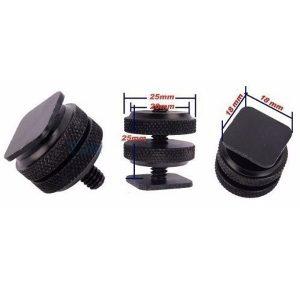 adaptador parafuso dual nuts hot shoe c rosca 14 D NQ NP 322811 MLB20640944703 032016 O