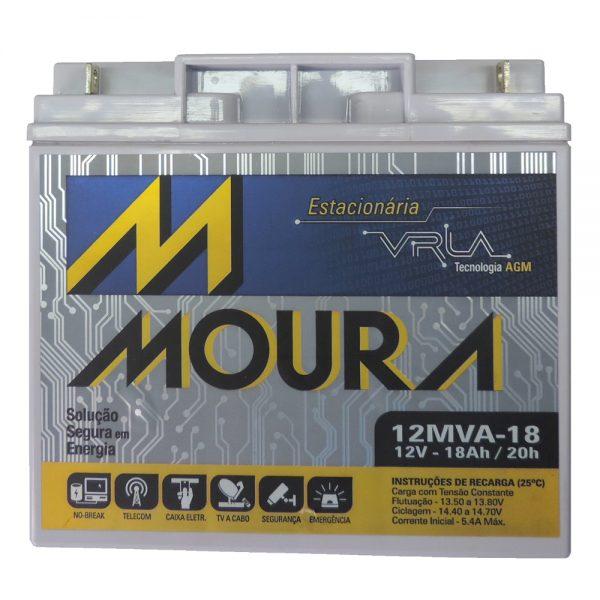 bateria moura estacionaria 12v 18ah vrla para no break