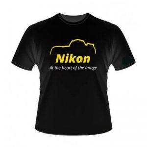 Camiseta Nikon D800 Preta 100% Algodão