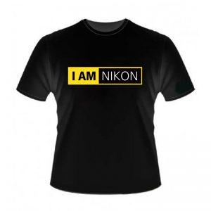 Camiseta Nikon Preta 100% Algodão