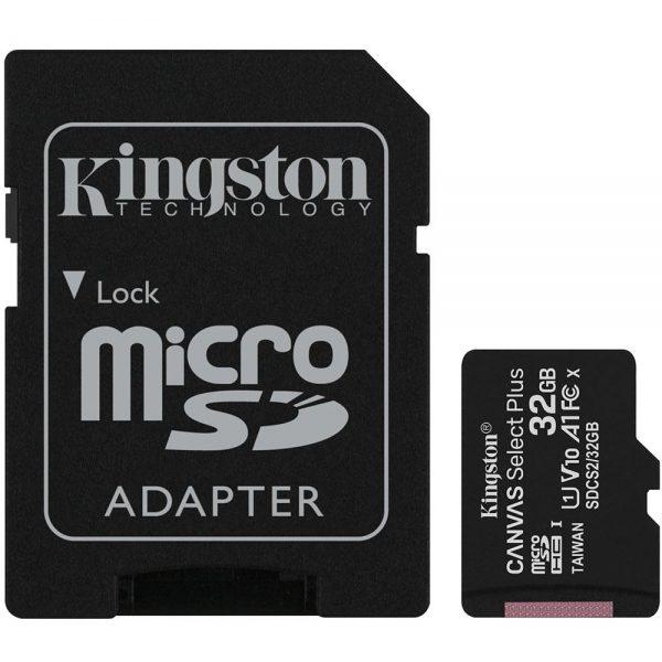 Cartão de Memória Micro SD Kingston Canvas Select Plus 32GB
