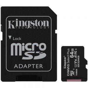 Cartão de Memória Micro SD Kingston Canvas Select Plus 64GB