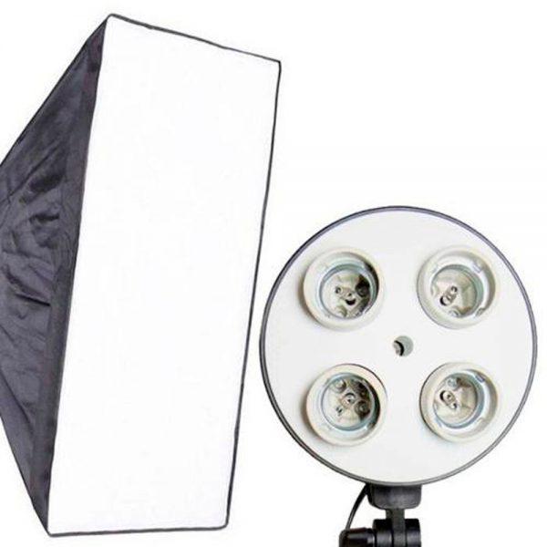 eshop10 kit iluminacao continua 50x70 softbox soquete