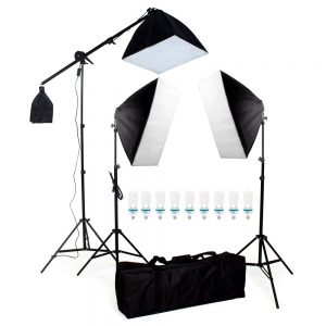 eshop10 kit luz continua softbox 50 70 com girafa 1