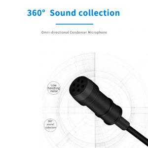 eshop10 microfone de lapela mamen km d1 pro 10