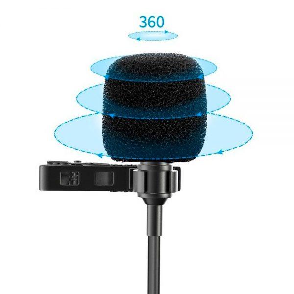 eshop10 microfone de lapela mamen km d1 pro 3
