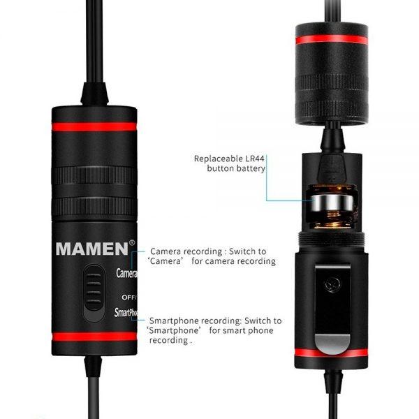 eshop10 microfone de lapela mamen km d1 pro 5