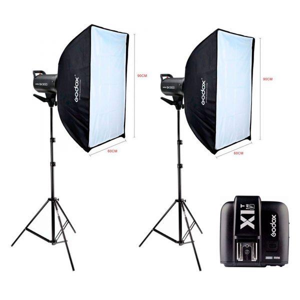 Kit Estúdio Fotográfico Profissional 600w Godox Sk300 II X1