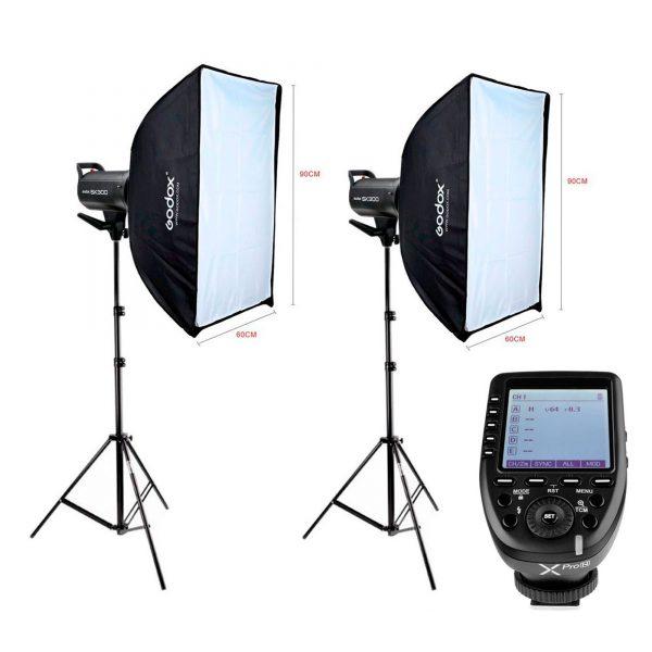 Kit Estúdio Fotográfico Profissional 600w Godox Sk300II XPro