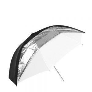 eshop10 sombrinha gigante 190cm preta prata branca 10