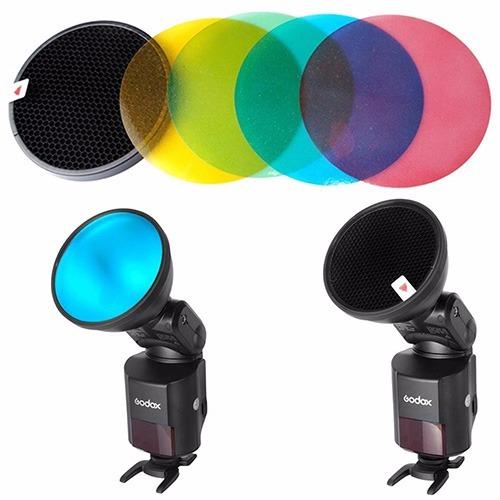 filtros coloridos colmeia flash godox ad360