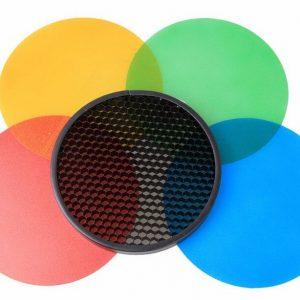 filtros coloridos colmeia flash godox ad360 1