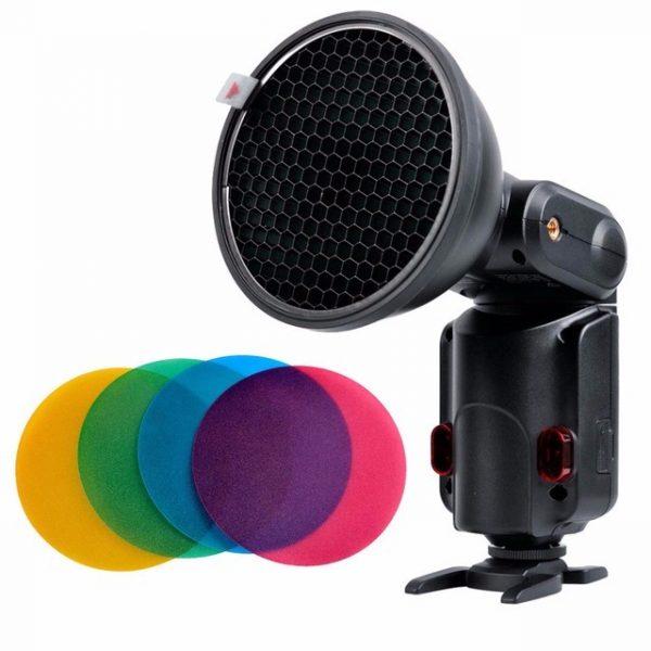 filtros coloridos colmeia flash godox ad360 eshop10.com .br