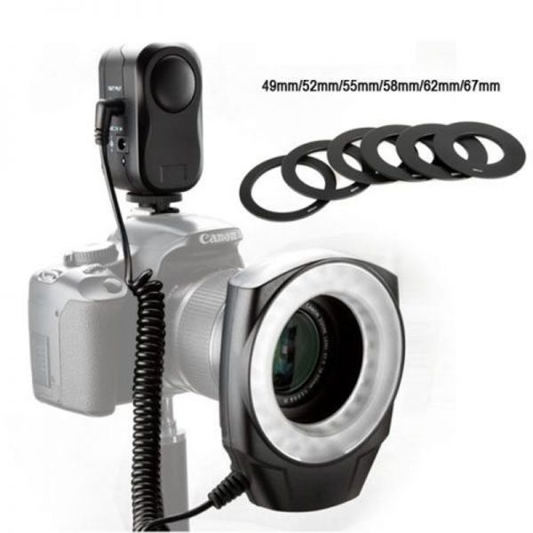 godox ring 48 macro led ring light 6 ring adapter for canon nikon pentax olympus a219b947be088d7fda5bb46fcedba8ce