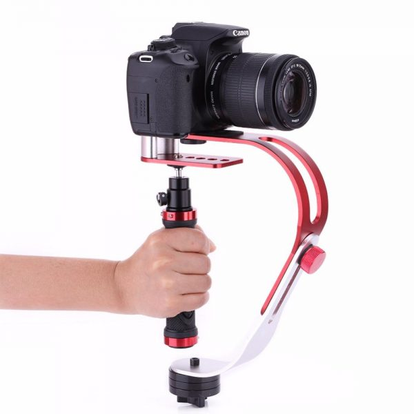 handheld estabilizador suporte do suporte da camera gimbal para nikon canon sony gopro camera esporte dv liga de aluminio handheld acao estabilizador grip 1