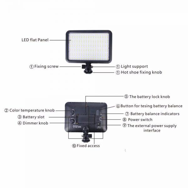 iluminador para foto e video led ttv 204 ESHOP10