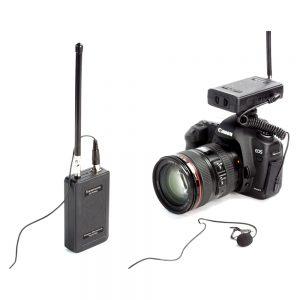 saramonic sr wm4c wireless radio lapel lavalier microphone kit for dslr 1